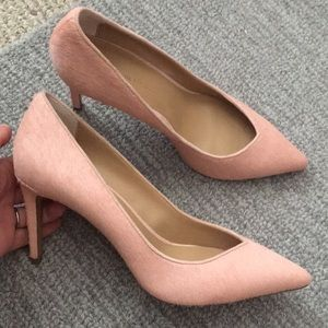 Size 9 must see! - pink fur heels - like new